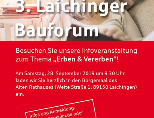 3. Laichinger Bauforum am 28.09.2019